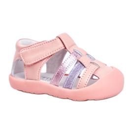 Apawwa Sandale pentru copii cu Velcro Glitter Pink Ontario roz gri
