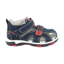 Apawwa Sandale pentru copii cu Velcro Navy Goreno roșu albastru marin
