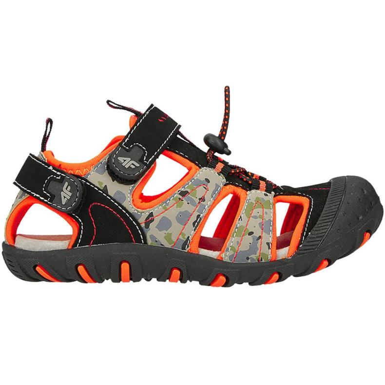 Sandale 4F Jr HJL20 JSAM002 90S negru portocale multicolor
