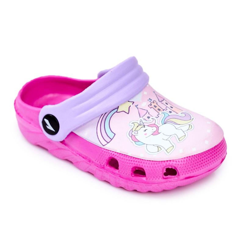 Papuci pentru copii Foam Crocs Ponei roz Ponei