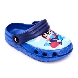 Papuci pentru copii Foam Crocs Blue Bear Pilot SuperFly albastru