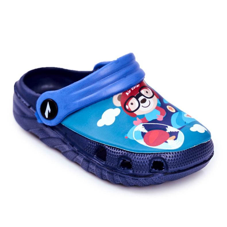 Papuci pentru copii Foam Crocs Blue Pilot Teddy Bear Pilot SuperFly