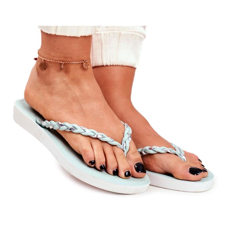 SEA Papuci de damă Flip-flops Curea împletită Peggie verde