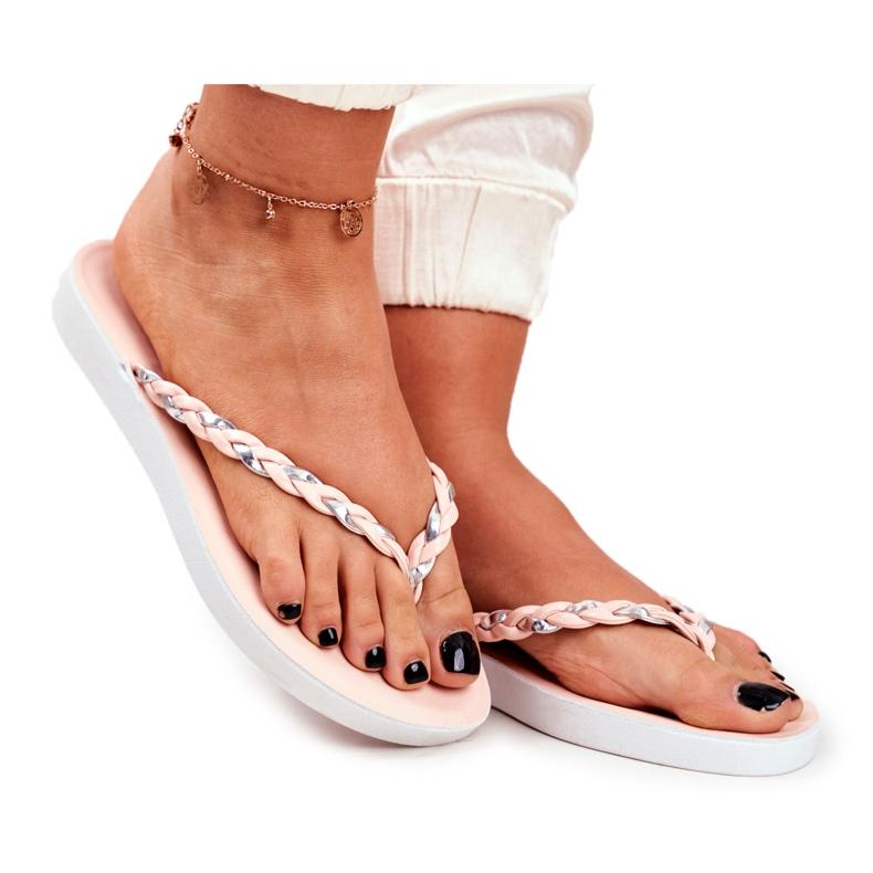 SEA Pantofi pentru femei Flip-Flops Curea împletită roz Peggie