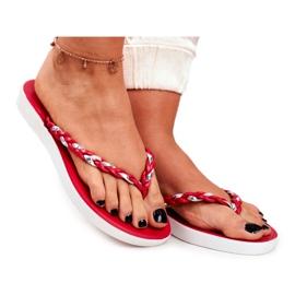 SEA Pantofi pentru femei Flip-Flops Curea împletită Peggie roșie roșu