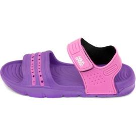 Papuci de piscină Aqua-speed Noli pentru copii roz roz col.93 violet