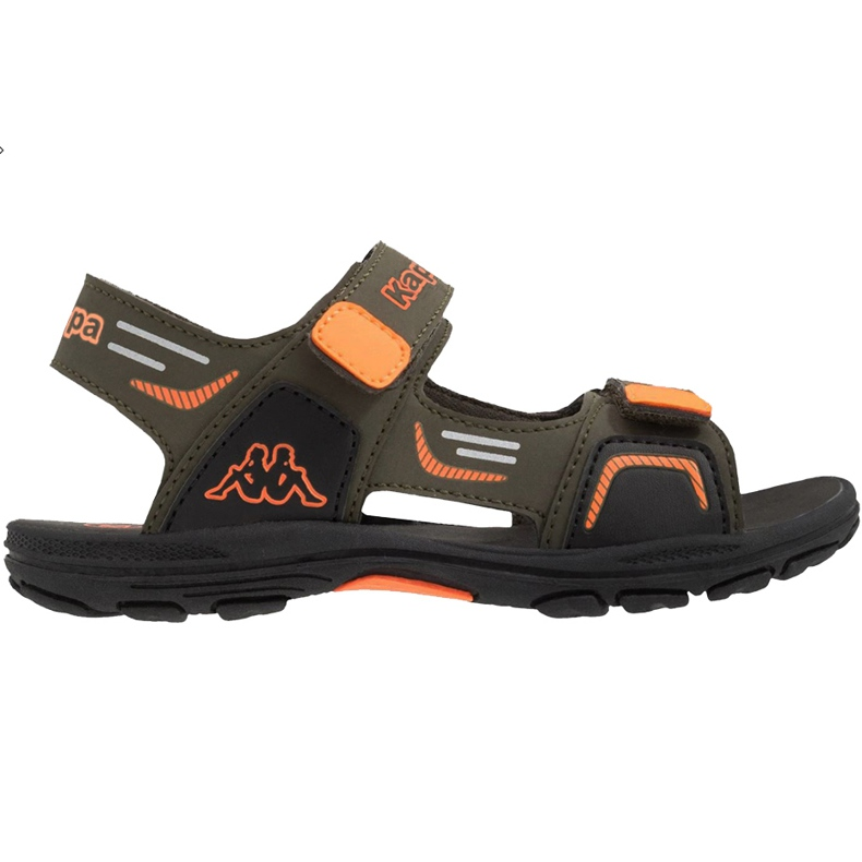 Kappa Pure T încălțăminte sandale pentru copii verzi și portocalii 260594T 3144 verde