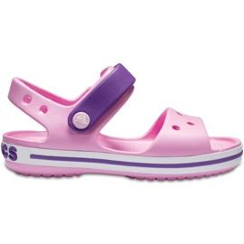 Sandale Crocs pentru copii Sandale Crocband Copii roz deschis-violet 12856 6AI