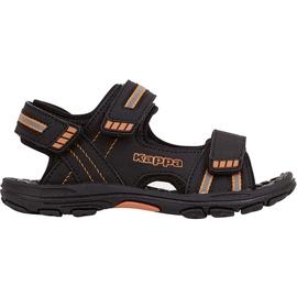Kappa Symi T Încălțăminte sandale pentru copii negre și portocalii 260685T 1144 negru portocale