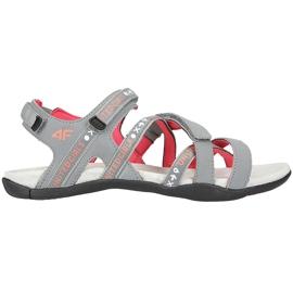 Sandale fete 4F multicolor HJL20 JSAD001 90S portocale roz gri