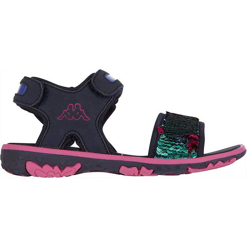 Sandale pentru copii Kappa Seaqueen K Încălțăminte copii bleumarin-roz 260767K 6722 albastru marin multicolor