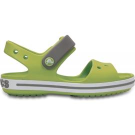 Sandale Crocs pentru copii Sandale Crocband pentru copii verde și gri 12856 3K9