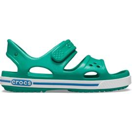 Sandale Crocs pentru copii Crocband Ii Sandal Ps Kids verde-albastru 14854 3TV