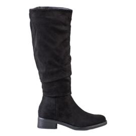 Sweet Shoes Cizme din piele de căprioară negru