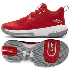 Pantofi de baschet Under Armour Gs Sc 3Zero Iv Boys Jr 3023918-600 multicolor roșu