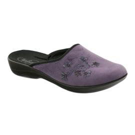 Pantofi de papuci pentru femei de la Befado 552D006 violet multicolor 1