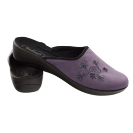 Pantofi de papuci pentru femei de la Befado 552D006 violet multicolor 3