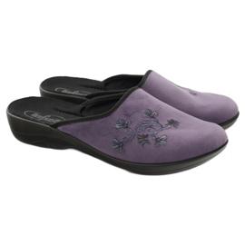 Pantofi de papuci pentru femei de la Befado 552D006 violet multicolor 4