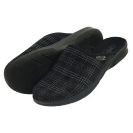Befado Bepado bărbați papuci papuci papuci 548m011 negru 4