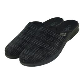Befado Bepado bărbați papuci papuci papuci 548m011 negru 3