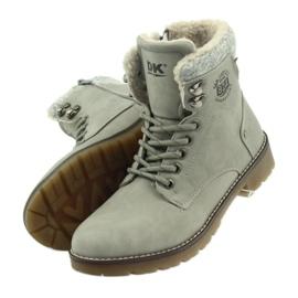Pantofi gri, panglici DK2025 4