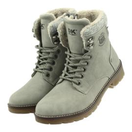 Pantofi gri, panglici DK2025 3