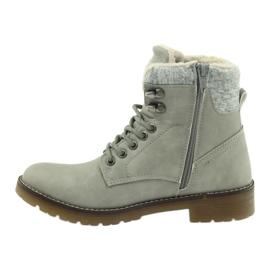 Pantofi gri, panglici DK2025 2