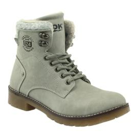 Pantofi gri, panglici DK2025 1