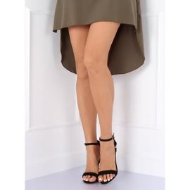 Sandale pe un stiletto negru 708-18 Negru 4