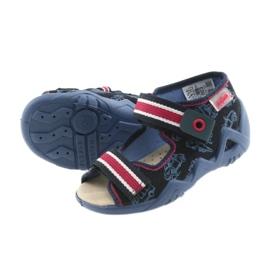 Befado galben pantofi pentru copii 350P003 bleumarin 6