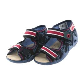 Befado galben pantofi pentru copii 350P003 bleumarin 4
