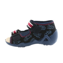 Befado galben pantofi pentru copii 350P003 bleumarin 3