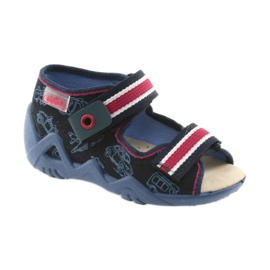 Befado galben pantofi pentru copii 350P003 bleumarin 2
