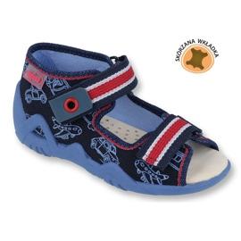 Befado galben pantofi pentru copii 350P003 bleumarin 1