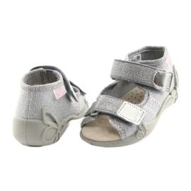 Befado pantofi pentru copii 342P002 argintiu gri 4