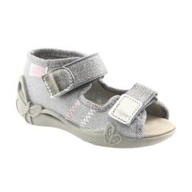 Befado pantofi pentru copii 342P002 argintiu gri 1