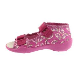 Pantofi pentru copii galbeni de la Befado 342P004 roz 3