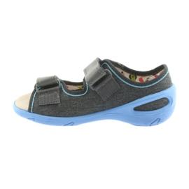 Pantofi pentru copii Befado pu 065X125 albastru gri 3