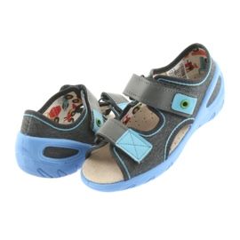 Pantofi pentru copii Befado pu 065X125 albastru gri 5