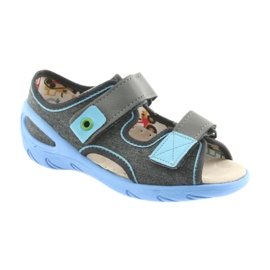 Pantofi pentru copii Befado pu 065X125 albastru gri 2