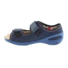 Pantofi pentru copii Befado pu 065X126 maro albastru marin 2