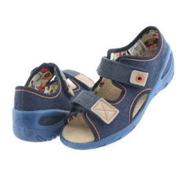 Pantofi pentru copii Befado pu 065X126 maro albastru marin 4