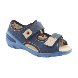 Pantofi pentru copii Befado pu 065X126 maro albastru marin 1