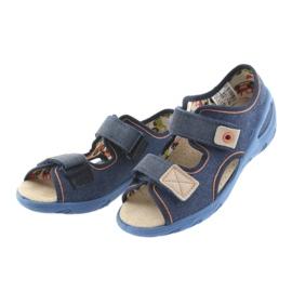 Pantofi pentru copii Befado pu 065X126 maro albastru marin 3