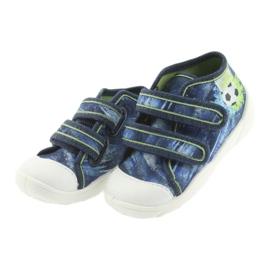 Pantofi pentru copii Befado ball 212P058 albastru verde albastru marin 3