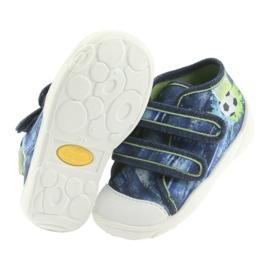 Pantofi pentru copii Befado ball 212P058 albastru verde albastru marin 5