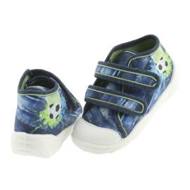 Pantofi pentru copii Befado ball 212P058 albastru verde albastru marin 4