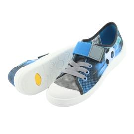 Pantofi pentru copii Befado ball 251Y120 albastru gri albastru marin 5