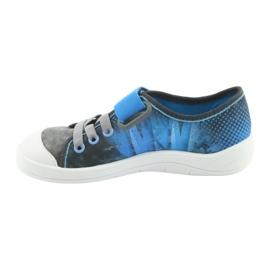 Pantofi pentru copii Befado ball 251Y120 albastru gri albastru marin 2