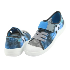Pantofi pentru copii Befado ball 251Y120 albastru gri albastru marin 4